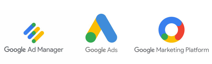 Google Ad Manager, Google Ads, Google Marketing Platform (Logos)