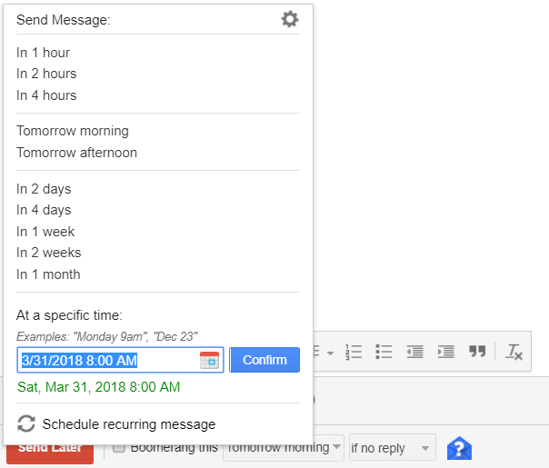 Boomerang for Gmail - schedule Emails