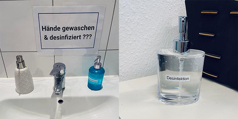 maßnahmen für den officebetrieb desinfektion händewaschen corona