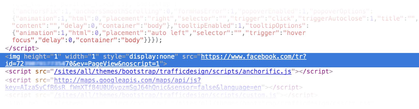 Implementation des Facebook Pixel via <img> Tag