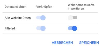 Google Ads und Analytics verknüpfen