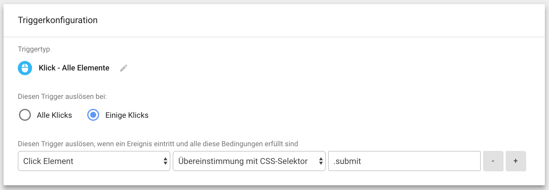 Ein Tag Manager Trigger mit CSS-Selektor