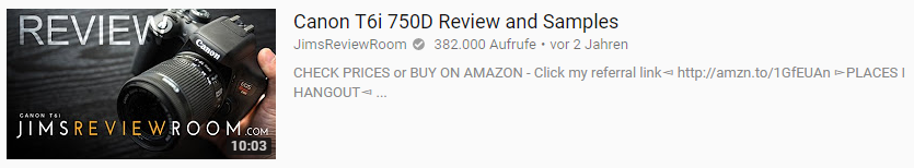 Youtube SEO Thumbnail Beispiel 2 produkt review