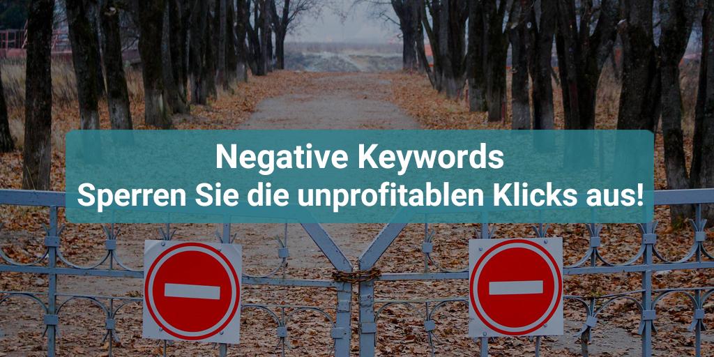 negative keywords sperren sie die unprofitablen klicks aus - Negative Verstarkung Beispiel