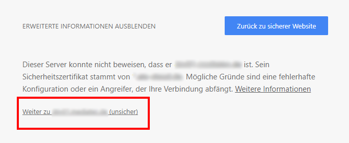 Kein HTTPS? Google Chrome warnt vor unsicherer Verbindung